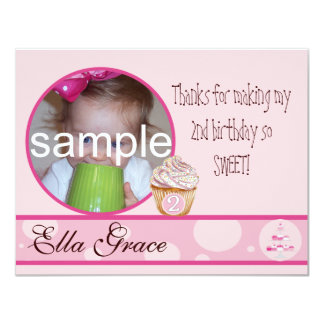 2nd Birthday Thank you card Invite