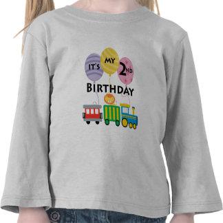 2nd Birthday Train Birthday Shirt