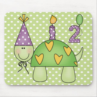 2nd Birthday Turtle Mouse Pad