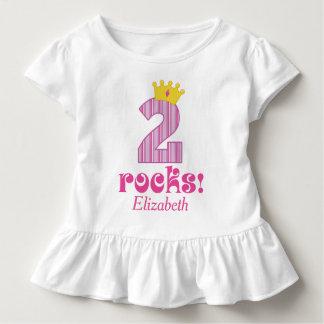 2nd Birthday Two Year Old Princess Tshirt
