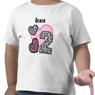 2nd Birthday Zebra Hearts Two Year Old 13 Shirts