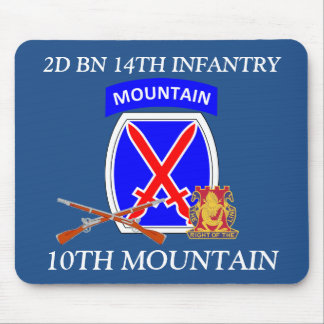 2ND BN 14TH INFANTRY 10TH MOUNTAIN MOUSEPAD