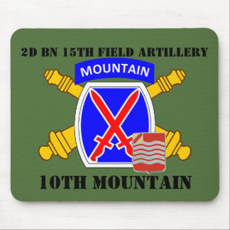 2ND BN 15TH FIELD ARTILLERY 10TH MOUNTAIN MOUSEPAD