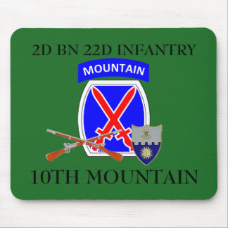 2ND BN 22ND INFANTRY 10TH MOUNTAIN MOUSEPAD