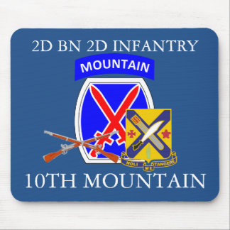 2ND BN 2ND INFANTRY 10TH MOUNTAIN MOUSEPAD