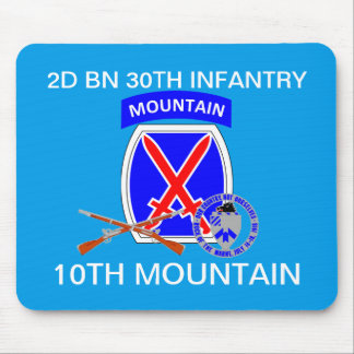 2ND BN 30TH INFANTRY 10TH MOUNTAIN MOUSEPAD