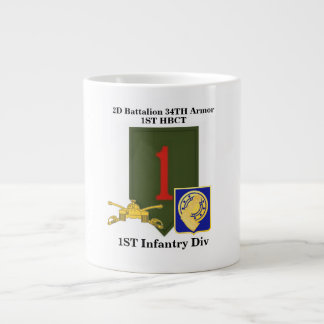 2nd Bn 34th Armor 1st Infantry div Jumbo Mug