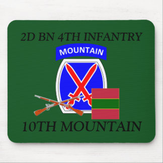 2ND BN 4TH INFANTRY 10TH MOUNTAIN MOUSEPAD