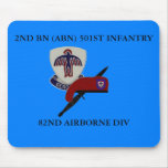 2ND BN (ABN) 501ST INFANTRY MOUSEPAD MOUSE PAD