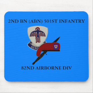 2ND BN ABN 501ST INFANTRY MOUSEPAD MOUSE PAD