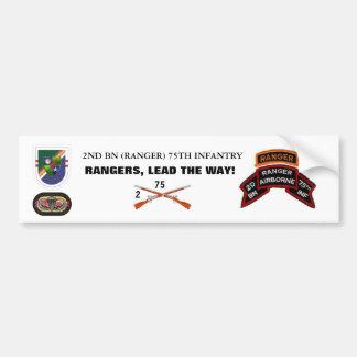 2nd Bn RANGER Bumper Sticker Car Bumper Sticker
