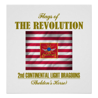 2nd Continental Light Dragoons Poster