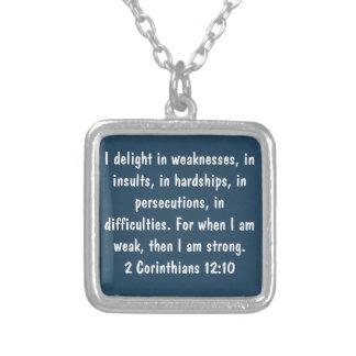 2nd Corinthians 12:10 Necklace