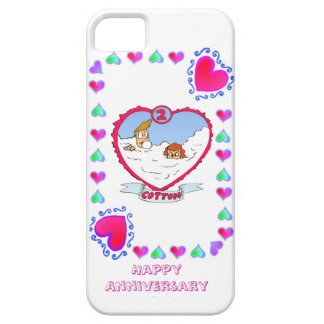 2nd cotton wedding anniversary, iPhone 5 cover
