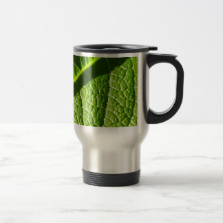 2nd dual lit leaf, on stainless stainless steel travel mug