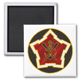 2nd Engineer Battalion Square Magnet