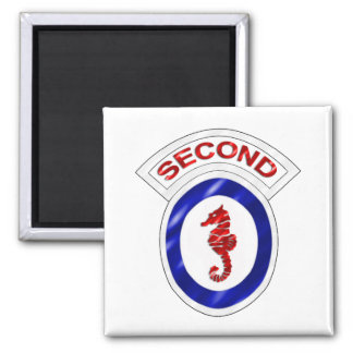 2nd Engineer Brigade Square Magnet