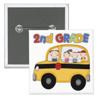 2nd Grade School Bus 15 Cm Square Badge