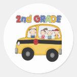 2nd Grade School Bus Sticker