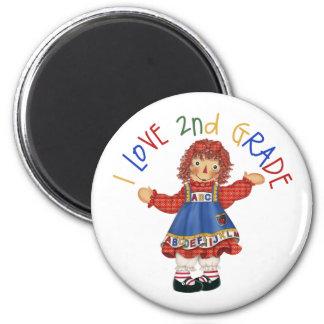 2nd Grade School Gift 6 Cm Round Magnet
