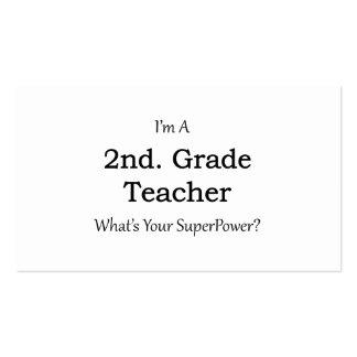 2nd. Grade Teacher Pack Of Standard Business Cards
