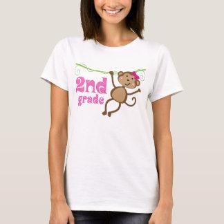 2nd Grade Teacher Monkey Gift T-Shirt