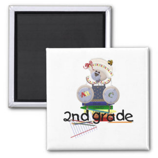 2nd Grade Teddy Bear School Gift Square Magnet