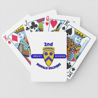 2ND HEAVY CAVALRY DIVISION BUFFALO SOLDIERS BICYCLE POKER CARDS