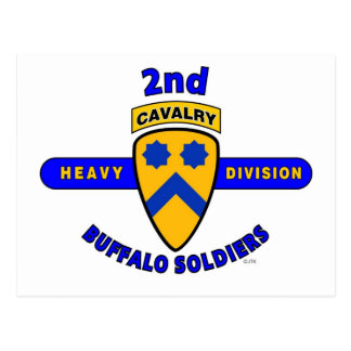 """2ND HEAVY CAVALRY DIVISION """"BUFFALO SOLDIERS"""" POSTCARD"""