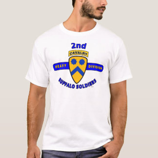 """2ND HEAVY CAVALRY DIVISION """"BUFFALO SOLDIERS"""" T-Shirt"""