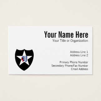 2nd ID Class A Patch Business Card