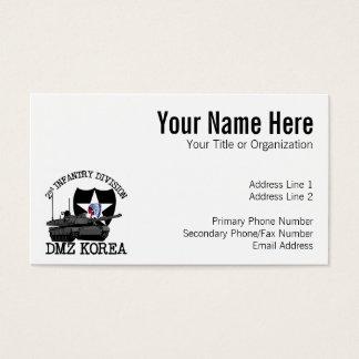 2nd ID DMZ Korea Vet Business Card