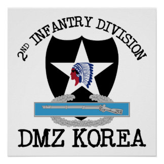 2nd ID Korea DMZ Vet with CIB Poster