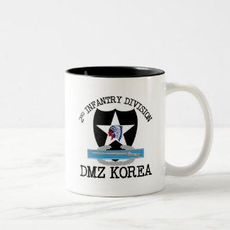 2nd ID Korea DMZ Vet with CIB Two-Tone Coffee Mug