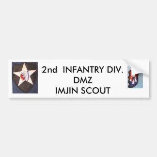 2nd Inf Div 001, 2nd Inf Div 002, 2nd  INFANTRY... Bumper Sticker