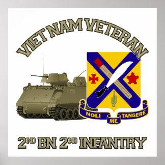2nd Inf Reg - Vietnam Poster