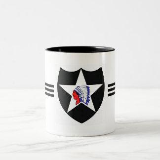 2nd Infantry Div. - Army Two-Tone Coffee Mug