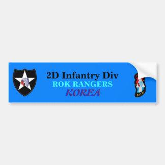 2nd Infantry Div ROK RANGERS Bumper Sticker Car Bumper Sticker