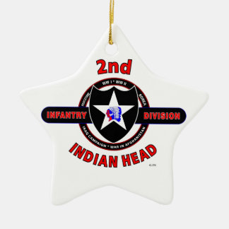 """2ND INFANTRY DIVISION """"INDIAN HEAD"""" CHRISTMAS ORNAMENT"""