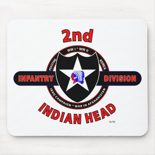 """2ND INFANTRY DIVISION """"INDIAN HEAD"""" MOUSE PAD"""
