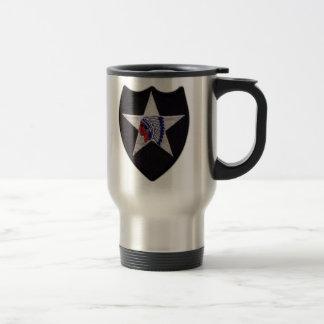 2nd infantry division lrrp veterans vets patch travel mug