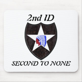 2nd Infantry Division SECOND TO NONE Mousepad