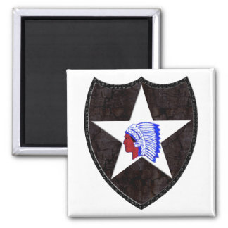 2nd Infantry Division Square Magnet