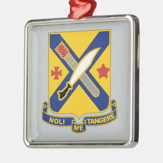 2nd Infantry Regiment Silver-Colored Square Decoration