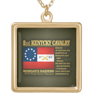 2nd Kentucky Cavalry (BA2) Gold Plated Necklace