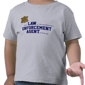 2nd LAW of Thermodynamics ENFORCEMENT T Shirts