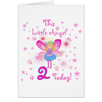 2nd Little Angel Birthday T-shirts and Gifts Greeting Card