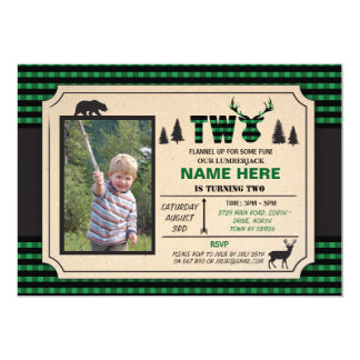 2nd Lumberjack Two Birthday Invite Check Invite