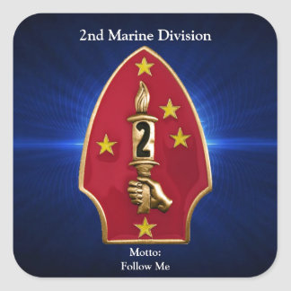 2nd Mar Div Square Sticker