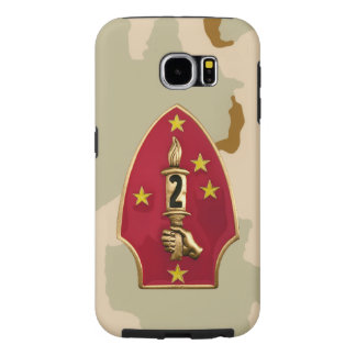 """2nd Marine Division""""The Silent Second"""" Desert Camo Samsung Galaxy S6 Cases"""